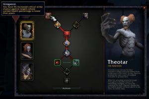 Exemplos de habilidades customizáveis para Theotar