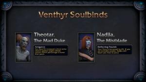 Exemplos de Soulbinds dos Venthyr